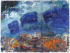 Ying Li, Ascona Clouds, 2013, oil on linen, 18 x 24 inches (courtesy of the arti