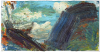 Ying Li, Valle Onsernone #6 (Puffy Clouds), 2013, oil on linen, 10 x 20 inches (